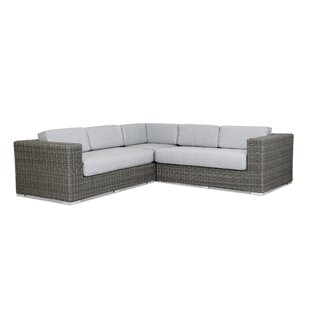 Emerald II Patio Sectional with Sunbrella Cushion by Sunset West