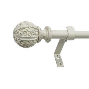 parlex core leaf ball telescoping drapery rod set