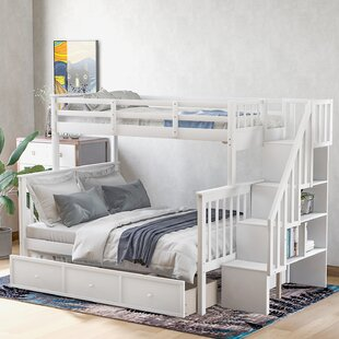 Danville Twin Over Full Bunk Bed with Drawers by Harriet Bee