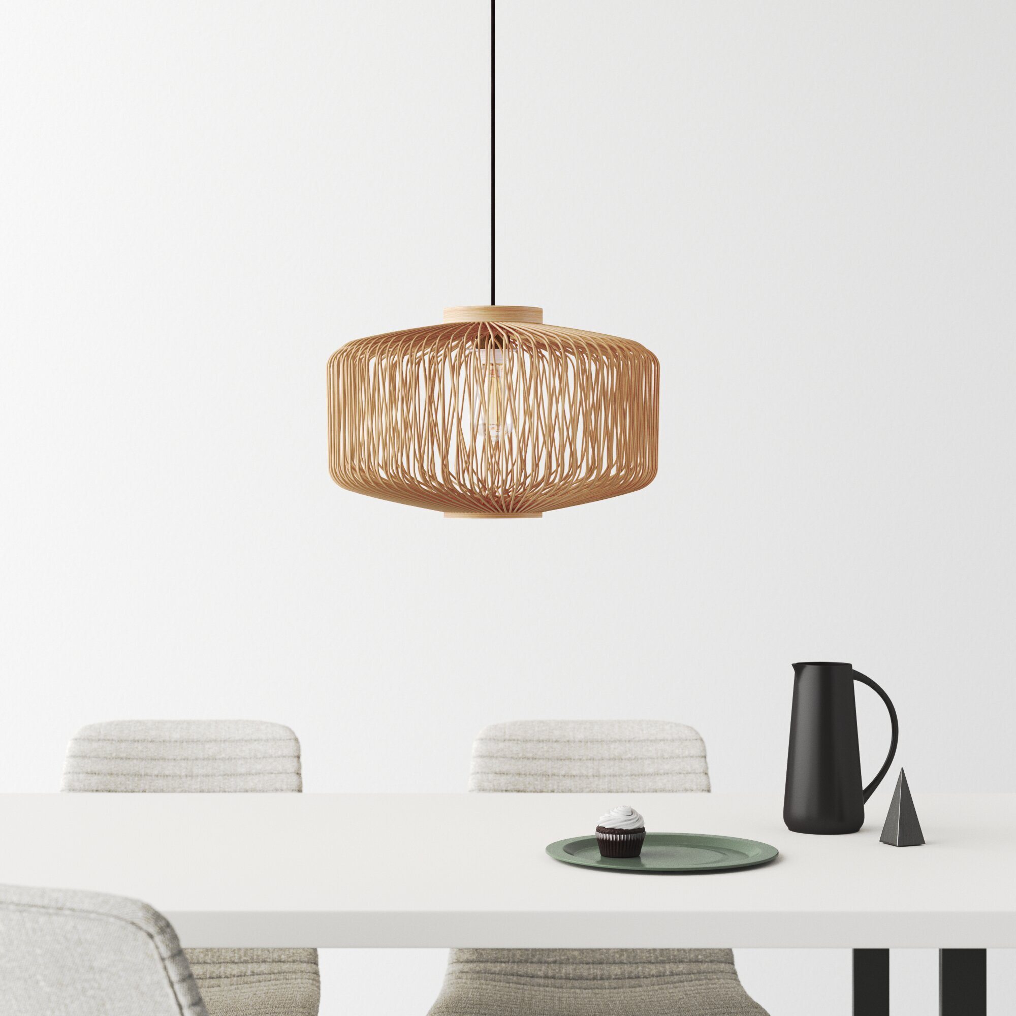 Waut 1 Light Single Geometric Pendant Reviews Allmodern