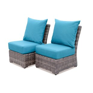 Laurel Foundry Modern Farmhouse Valentin Armless Deep Seating Chair with Cushion (Set of 2)