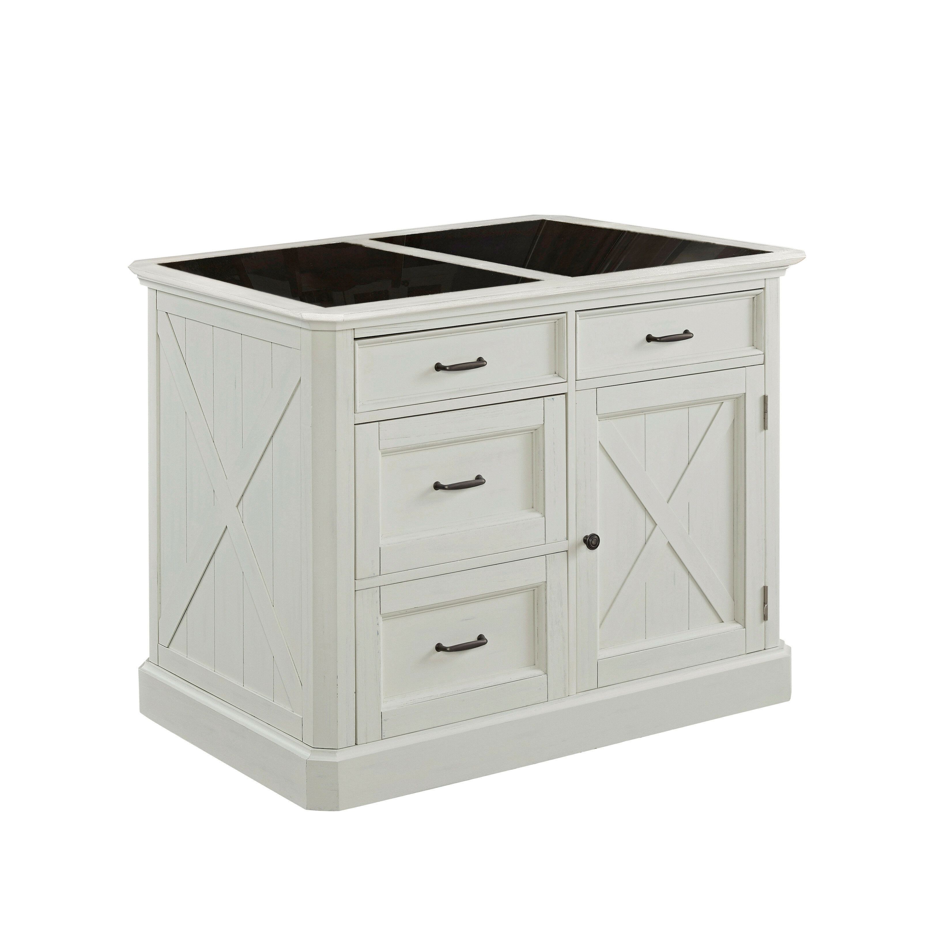 Laurel Foundry Modern Farmhouse Moravia Kitchen Island With Granite Top Reviews