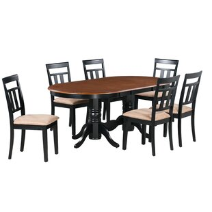 Dahlstrom 7 Piece Solid Wood Dining Set August Grove