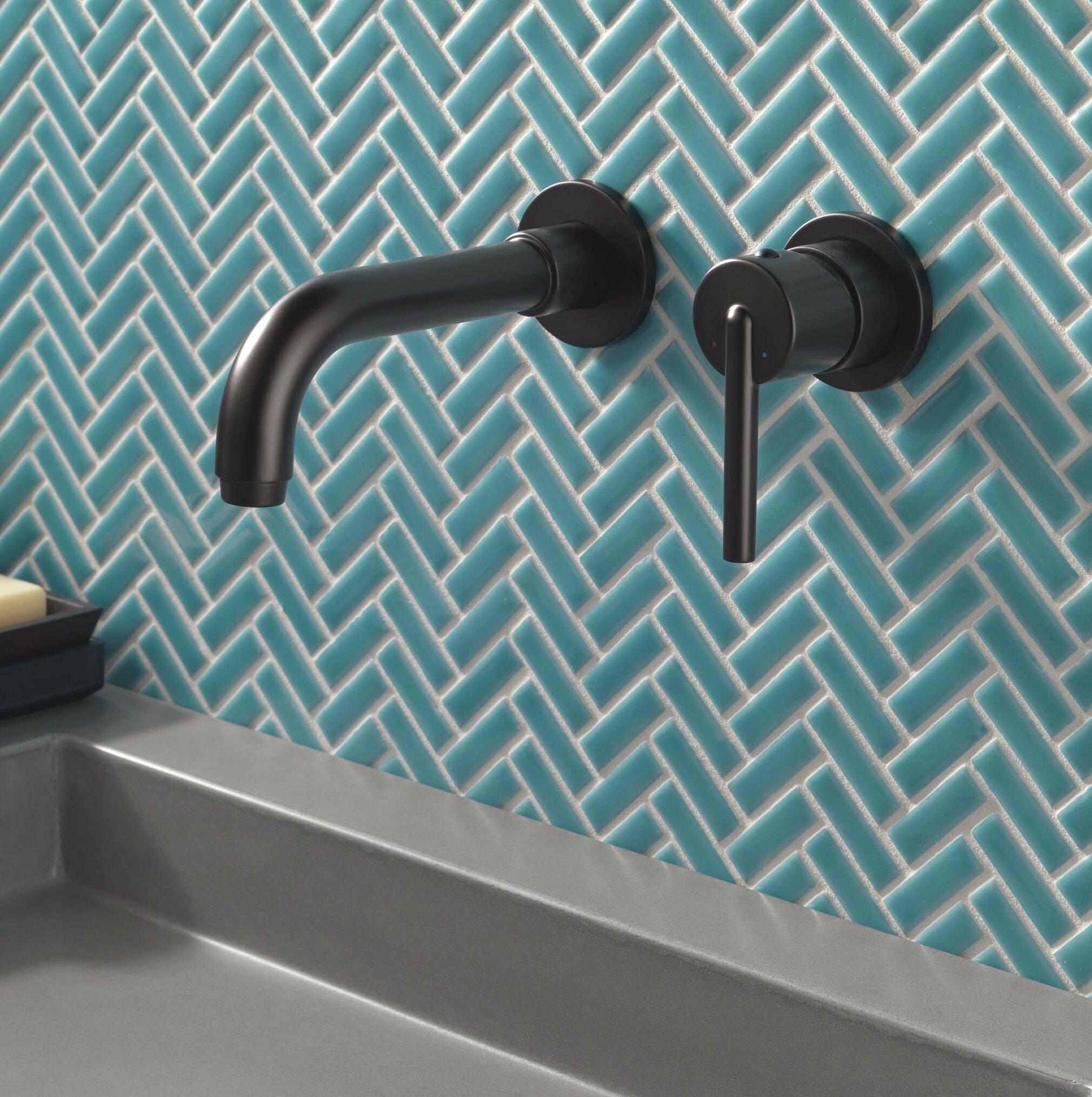 T3559lf Wl Czwl Blwl Delta Trinsic Wall Mounted Bathroom Faucet Reviews Wayfair