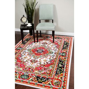 Dunlap Ivory/Red Indoor/Outdoor Area Rug