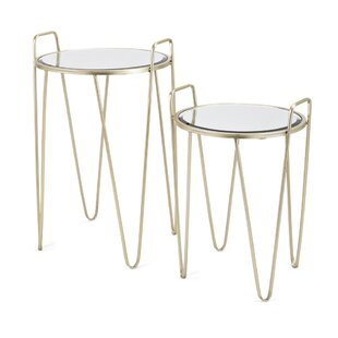 Garold Robust Metal 2 Piece Nesting Tables by Ivy Bronx