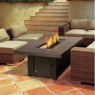 St. Tropez Aluminum Propane/Natural Gas Fire Pit Table