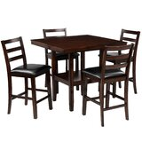 Amilliona 5 - Piece Counter Height Dining Set by Red Barrel Studio®