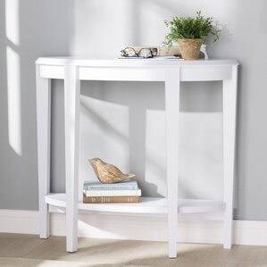 Small Half Moon Table For Hall white console & sofa tables you'll love | wayfair