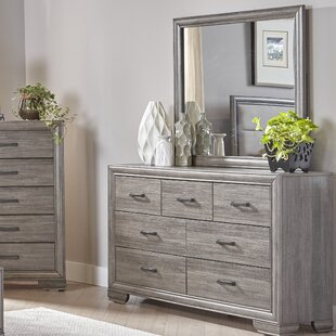 Chicora 7 Drawer Double Dresser with Mirror by Ophelia & Co.