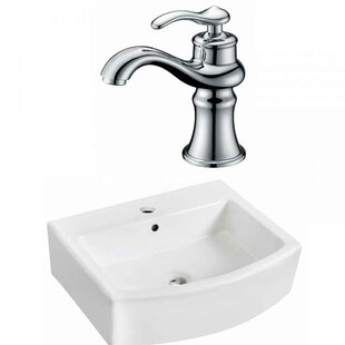 Royal Purple Bath Kitchen Ceramic Vessel Bathroom Sink with Faucet and Overflow