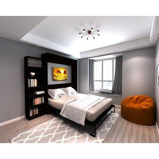 Brass Cannon Queen Murphy Bed by Brayden Studio