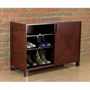 August Grove 12 Pair Shoe Storage Cabinet