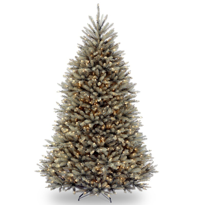 Green Fir 7.5' Hinged Green Artificial Christmas Tree with 750 Clear Lights