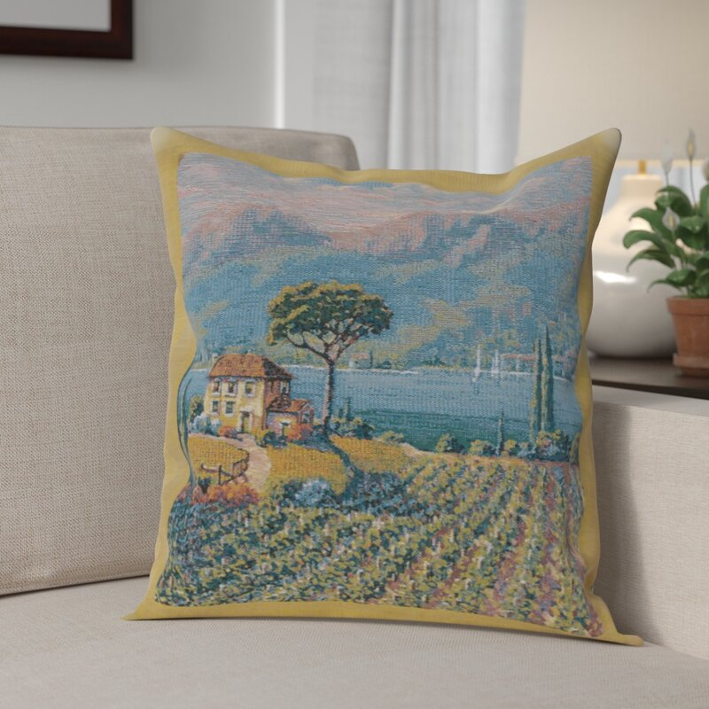 Fleur De Lis Living Campanella Vineyard Left Cotton Throw Pillow Cover Wayfair