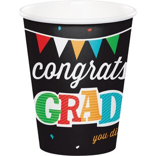 Head of the Class Graduation Paper Disposable Cup (Set of 24)