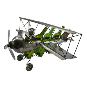 Rachel Pilot on Bi-Plane 3 Bottle Tabletop Wine Holder by Darby Home Co