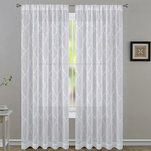 Geometric Sheer Curtain Panels (Set of 2) by Laura Ashley