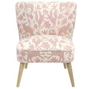 Blaize Wallflower Polyester/Cotton Side Chair by Bungalow Rose