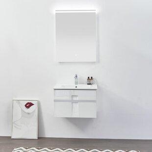 Antonetta Modern 36 WallMounted Single Bathroom Vanity Set with Mirror by Orren Ellis