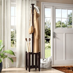 Three Posts Govea Coat Tree and Umbrella Rack