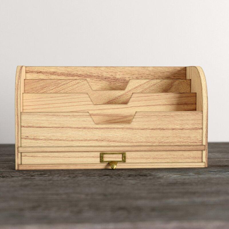Euharlee Wooden Desktop Organizer