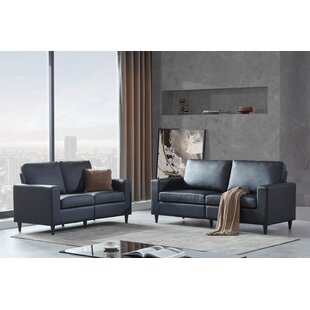 Sofa And Loveseat Sets Morden Style PU Leather Couch Furniture Upholstered 3 Seat Sofa Couch And Loveseat For Home Or Office (2+3 Seat) by Latitude Run