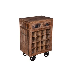 Bloomsbury Market Miraloma 2 Drawer 16 Bottle Floor Wine Rack