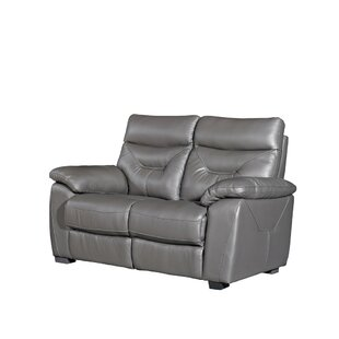 Ashlee Leather 2 Seater Loveseat Sofa By Ebern Designs
