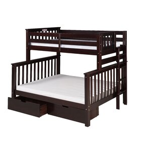 Lindy Mission Tall Bunk Bed with Storage by Harriet Bee