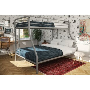 Caryl Twin over Full Bunk Bed with Mattress by Harriet Bee