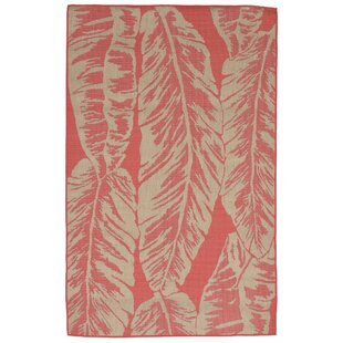 Hunley Banana Leaf Rust/Beige Indoor/Outdoor Area Rug