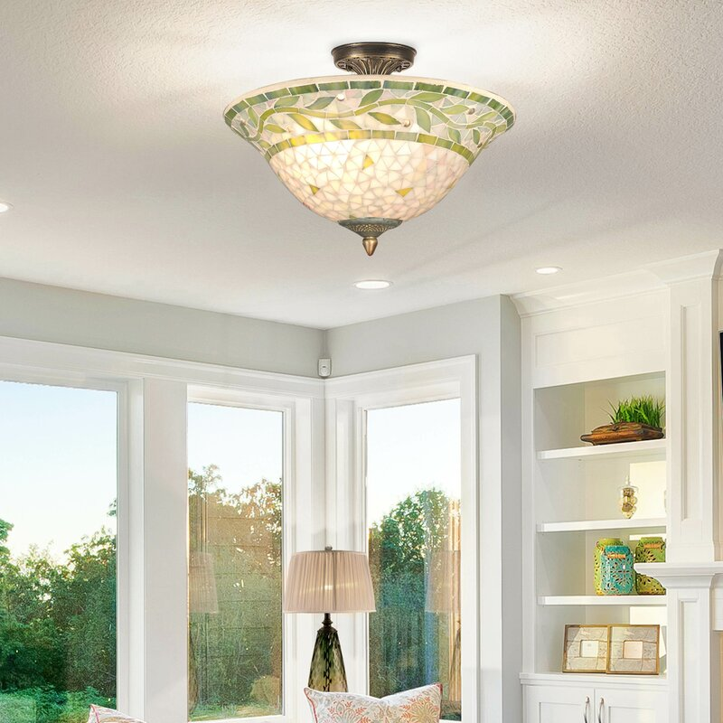 Cadena 3 light semi flush mount