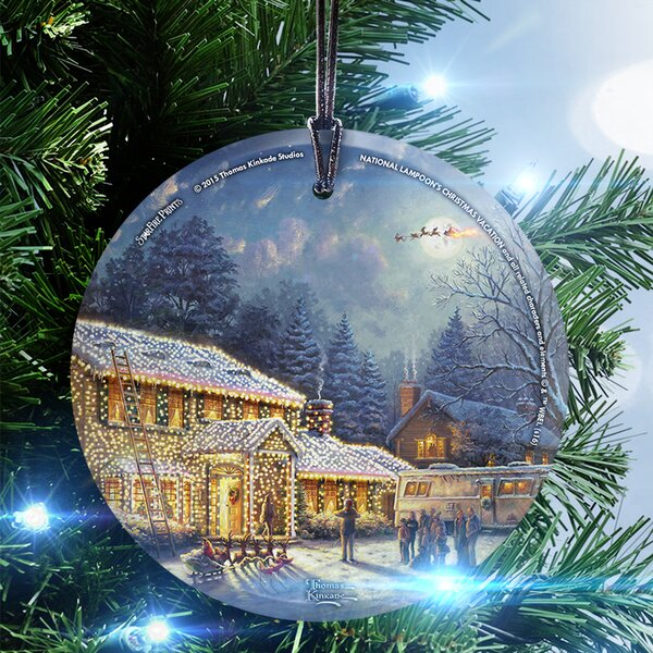 trend setters thomas kinkade national lampoons christmas vacation hanging shaped ornament wayfair