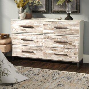Gracie Oaks Marston 6 Drawer Double Dresser