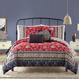 Bungalow Rose Hofer Cotton 5 Piece Reversible Comforter Set