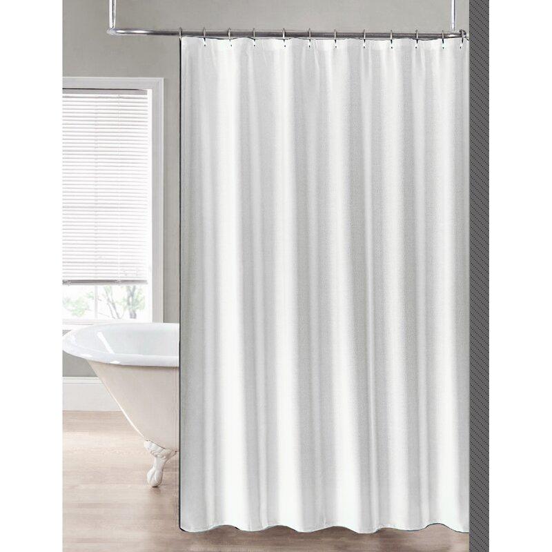2 In 1 Waterproof Shower Curtain