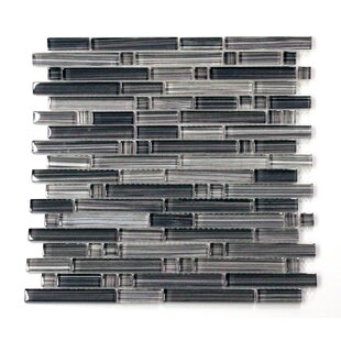 Verona Random Size Glass Mosaic Tile in Gray