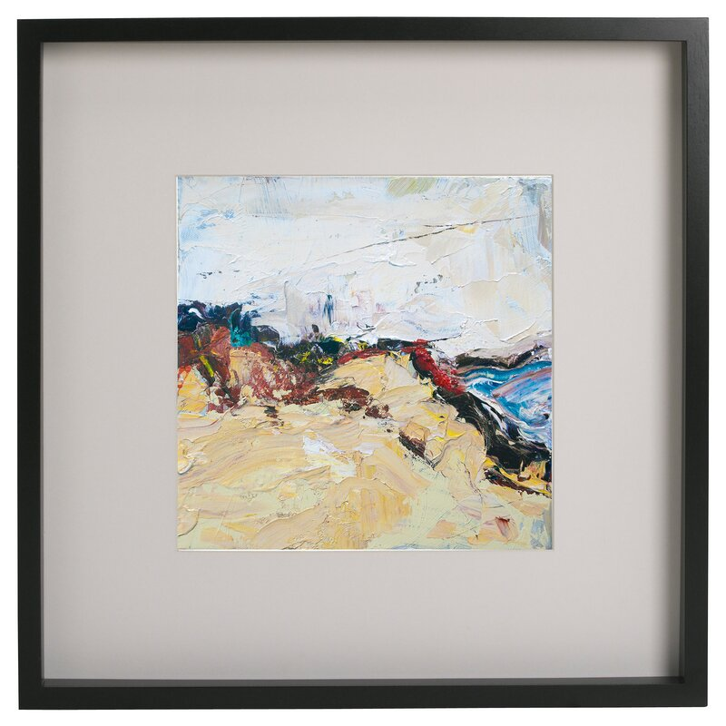 Highland Dunes \'Abstract Series X\' Framed Acrylic Painting Print ...