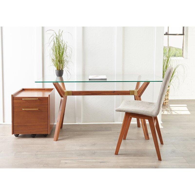 Brayden Studio  Moffitt Glass Writing Desk