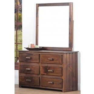 Chelsea Home Furniture Clarksburg 6 Drawer Double Dresser with Mirror