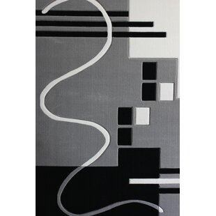 Best Price Vandalia Machine woven Polypropylene Gray/Black Area Rug ByOrren Ellis