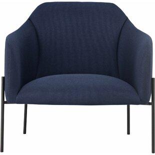 Tiemann Barrel Chair by Modloft Black