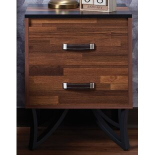 Union Rustic Townsville 2 Drawer Nightstand