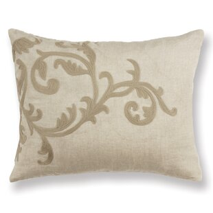 Gustave Scroll Linen Lumbar Pillow