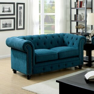 Chappell Traditional Style Chesterfield Loveseat