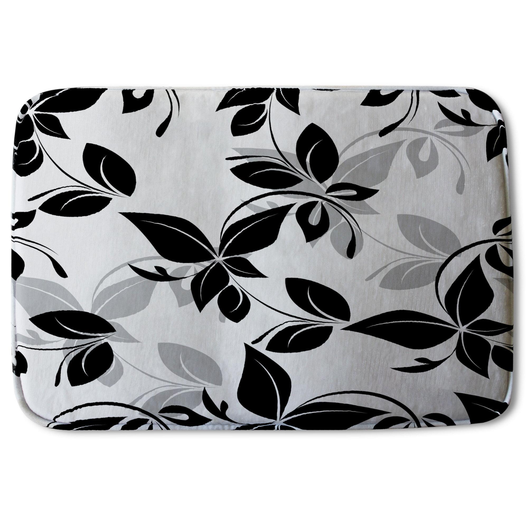 Black Nature Floral Bath Rugs Mats You Ll Love In 2021 Wayfair