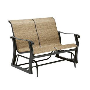 Cortland Sling Gliding Loveseat by Woodard