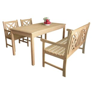Baskerville Outdoor 4 Piece Dining Set by..