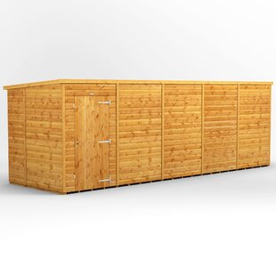 Review 20 Ft. W X 6 Ft. D Shiplap Pent Wooden Shed